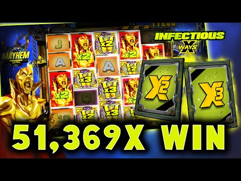 ⚡ INFECTIOUS 5 xWAYS ⚡ 51369x EPIC BIG WIN! ⚡