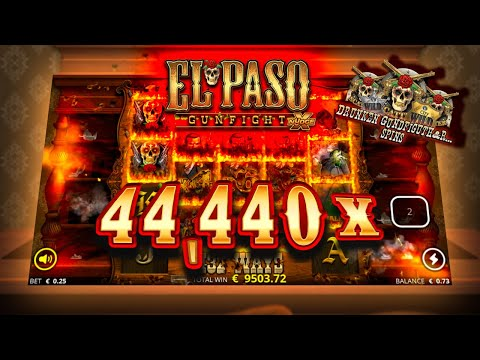 🤠 RECORD 44,440X WIN REPLAY 🤠 El Paso Gunfight (Nolimit City)