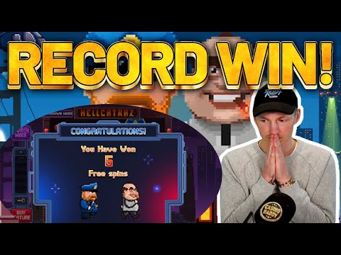 RECORD WIN! Hellcatraz BIG WIN - HUGE WIN ON NEW SLOT FROM RELAX GAMING
